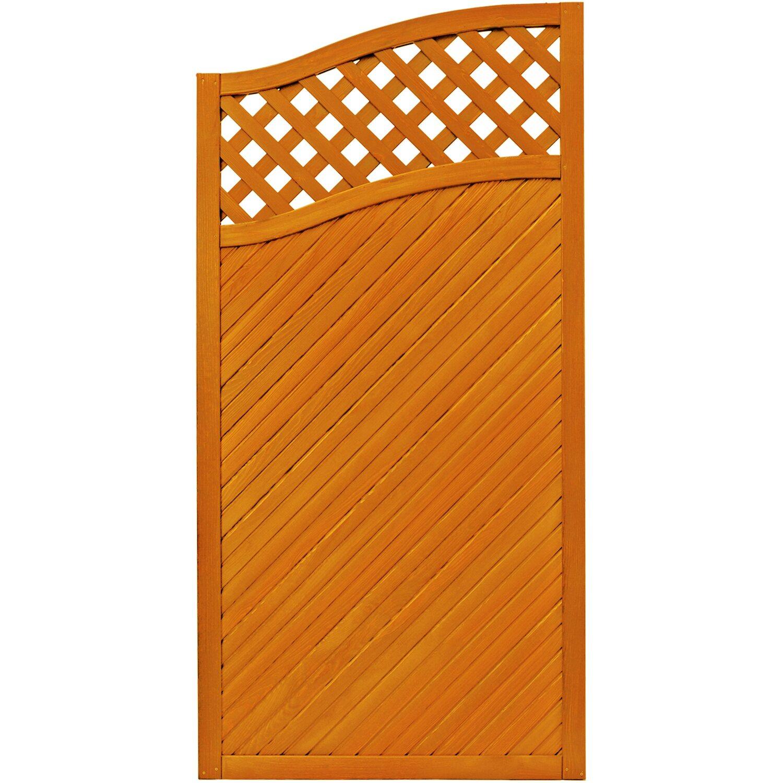 sichtschutzzaun element brest pinienfarben 180 164 cm x 90 cm kaufen bei obi. Black Bedroom Furniture Sets. Home Design Ideas
