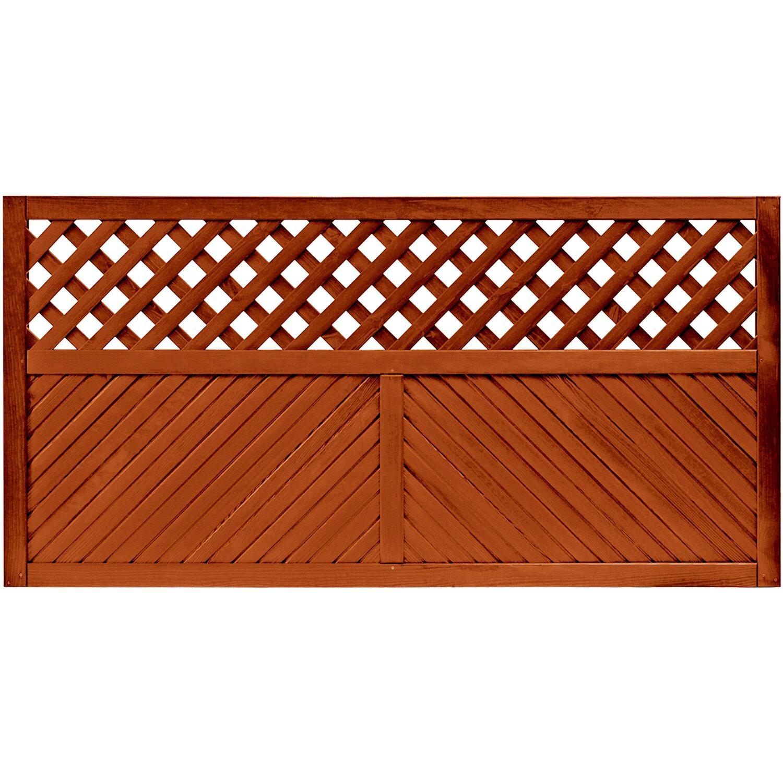 sichtschutzzaun element brest teakfarben 90 cm x 180 cm kaufen bei obi. Black Bedroom Furniture Sets. Home Design Ideas