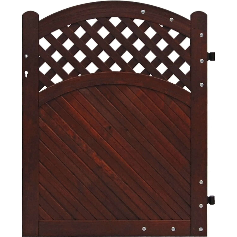 sichtschutzzaun element brest tor braun 120 130 cm x 100 cm kaufen bei obi. Black Bedroom Furniture Sets. Home Design Ideas