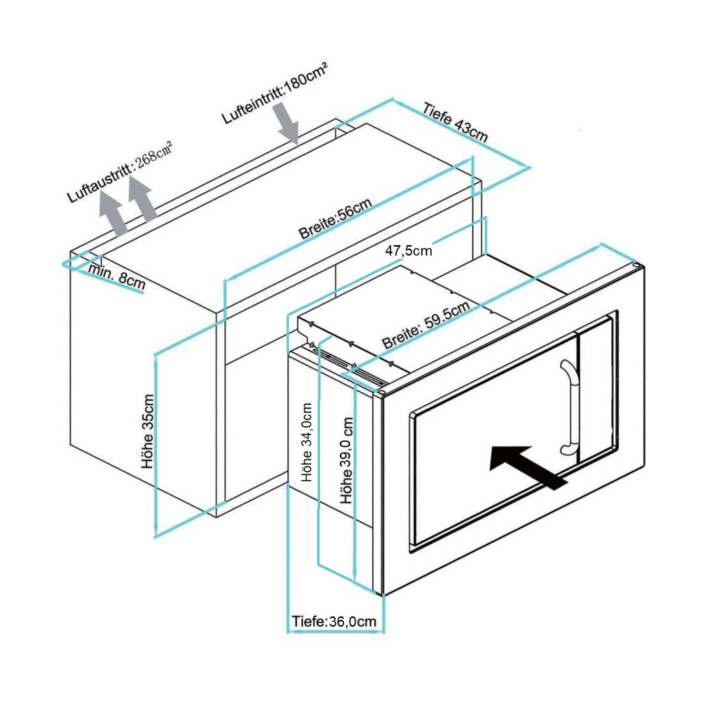 respekta einbau mikrowelle edelstahl mw800 kaufen bei obi. Black Bedroom Furniture Sets. Home Design Ideas