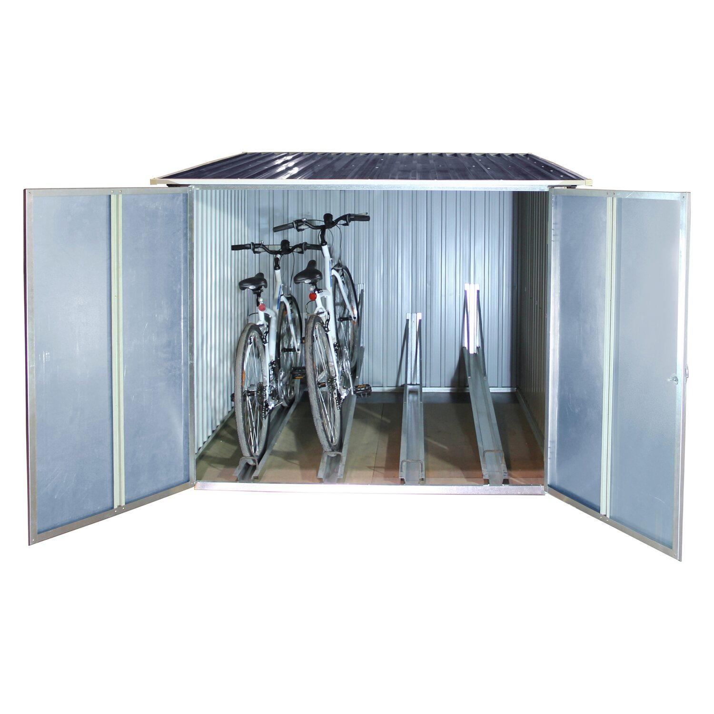 tepro fahrradbox anthrazit 191,6 x 191,6 x 142,5 cm kaufen bei obi
