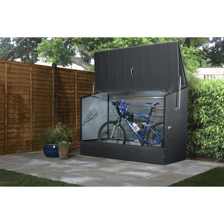 tepro fahrradbox anthrazit 196 x 89 x 133 cm kaufen bei obi