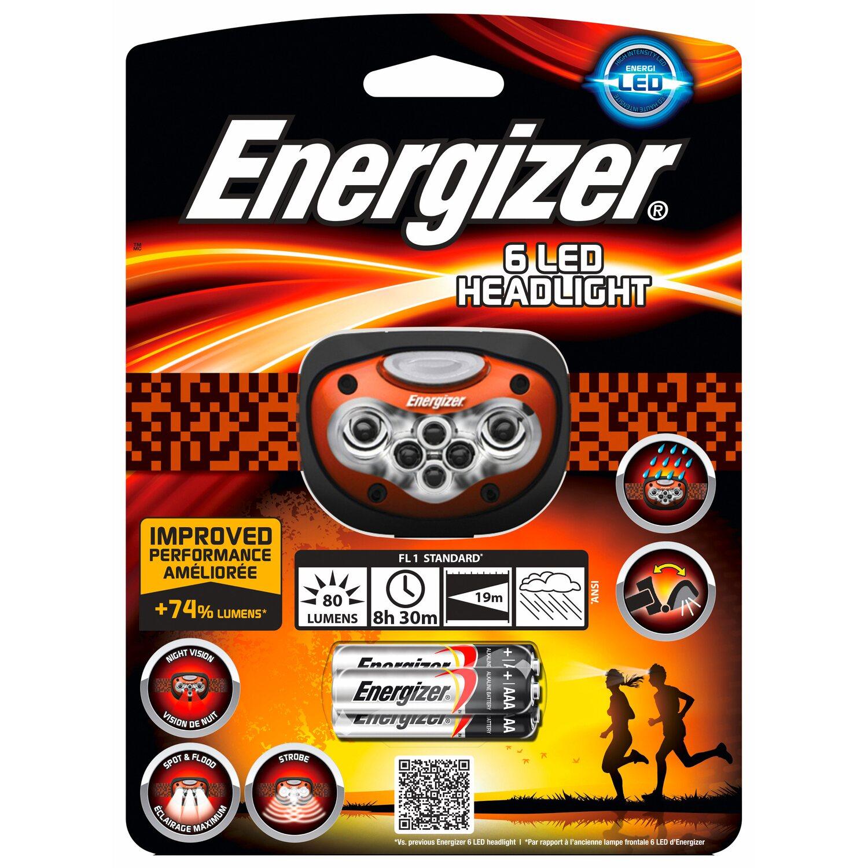 Energizer  6 LED Headlight inkl. Alkalina Batterien