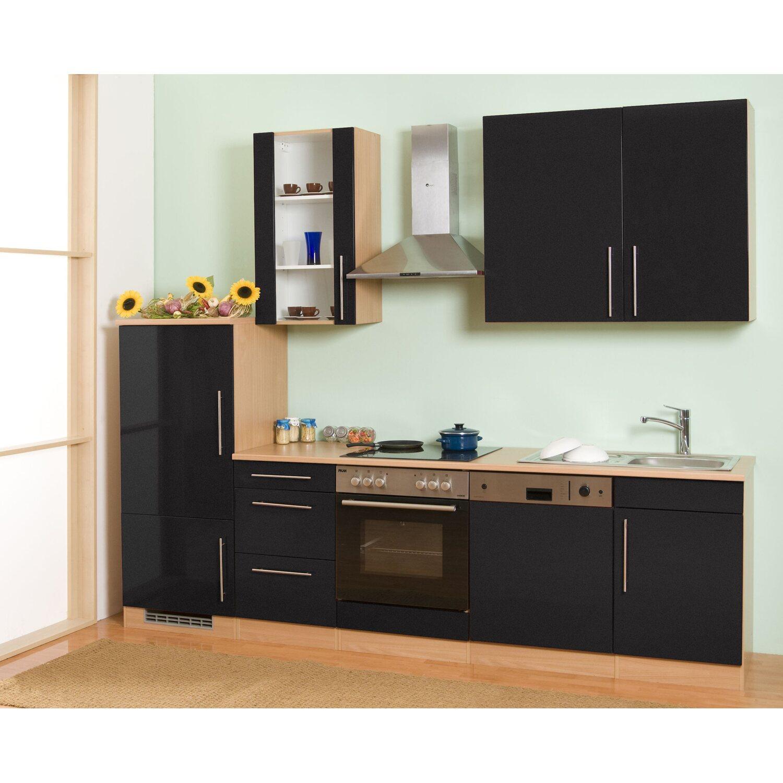 mebasa k chenzeile cucina 280 cm komplett mit ger ten grau kaufen bei obi. Black Bedroom Furniture Sets. Home Design Ideas