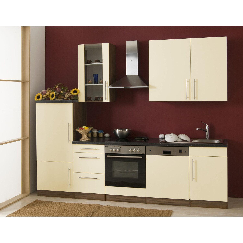 mebasa k chenzeile cucina 280 cm komplett mit ger ten vanille kaufen bei obi. Black Bedroom Furniture Sets. Home Design Ideas