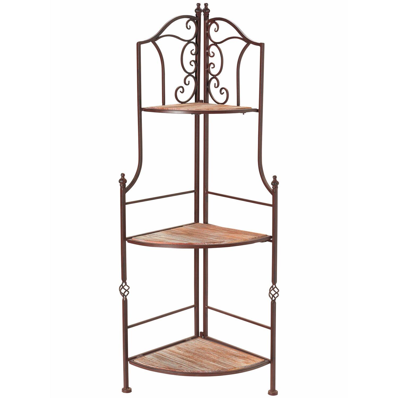 blumen eckregal mit holzdekoration 120 cm dunkelbraun kaufen bei obi. Black Bedroom Furniture Sets. Home Design Ideas