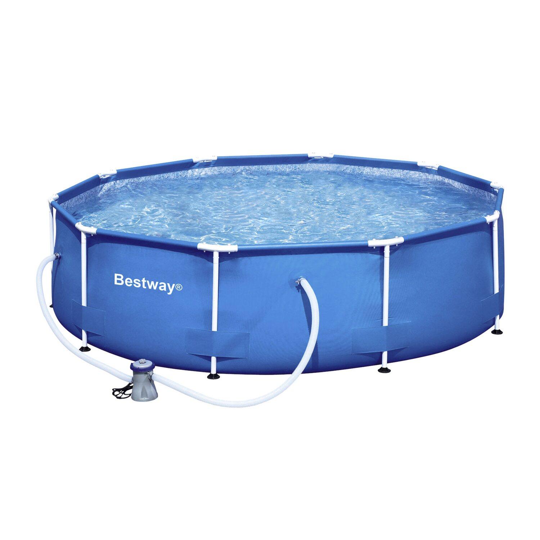 Bestway stahlrahmen swimming pool set 305 cm x 76 cm for Bestway pool folie
