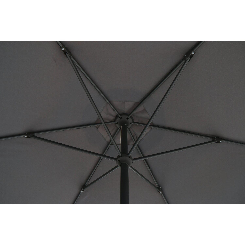 obi sonnenschirm honolulu rund anthrazit 300 cm kaufen bei obi. Black Bedroom Furniture Sets. Home Design Ideas