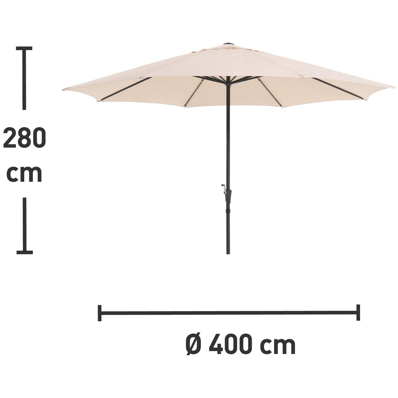 Obi Sonnenschirm Honolulu Rund Beige 400 Cm Kaufen Bei Obi