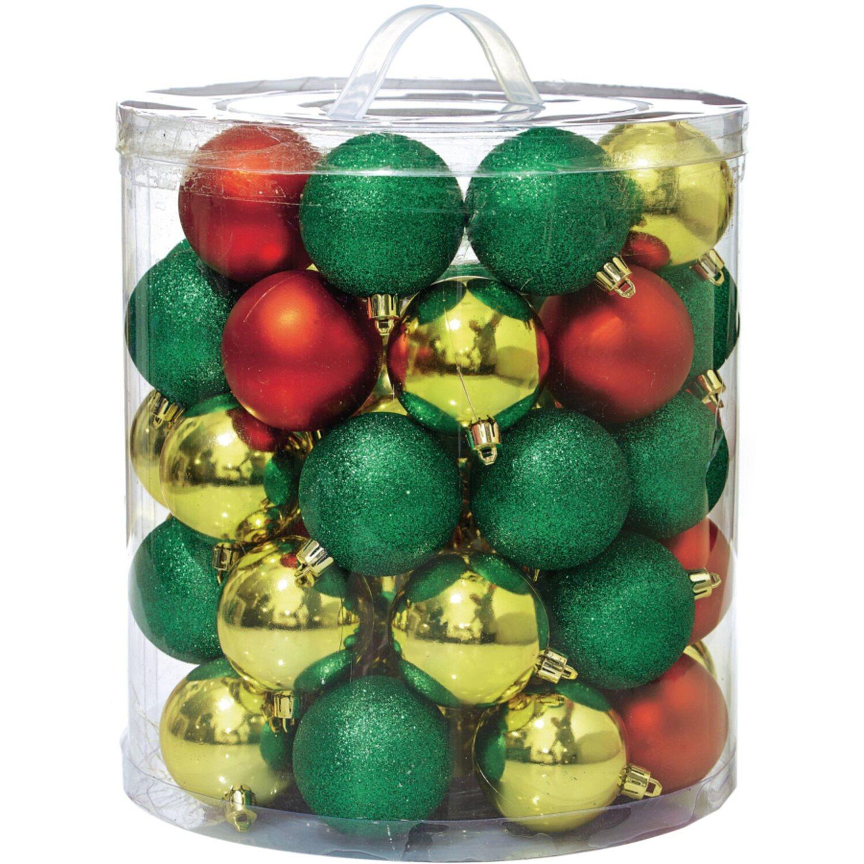 Weihnachtskugel set 48 teilig rot gold gr n kaufen bei obi - Obi weihnachtskugeln ...