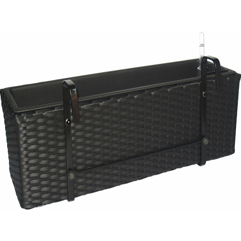 pflanzkasten rechteckig 51 5 cm schwarz kaufen bei obi. Black Bedroom Furniture Sets. Home Design Ideas