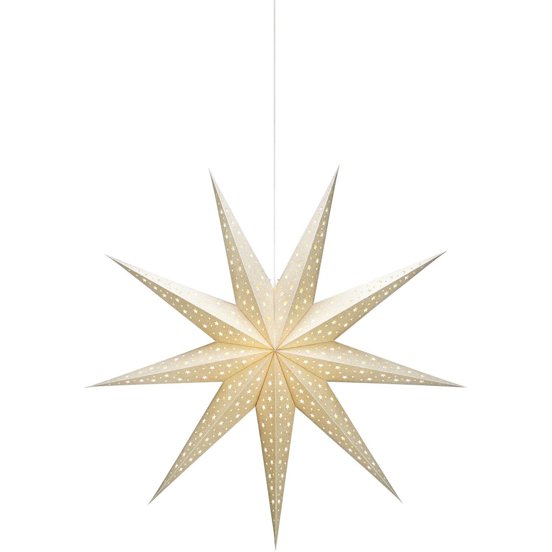 Bauhaus Baumarkt Weihnachtsbeleuchtung.Deko Leuchte Hängestern Solvalla 100 Cm Gold
