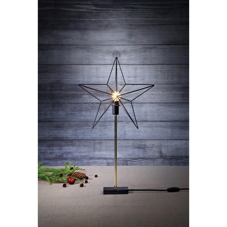 deko tischleuchte standstern tjusa metall schwarz 67 cm. Black Bedroom Furniture Sets. Home Design Ideas