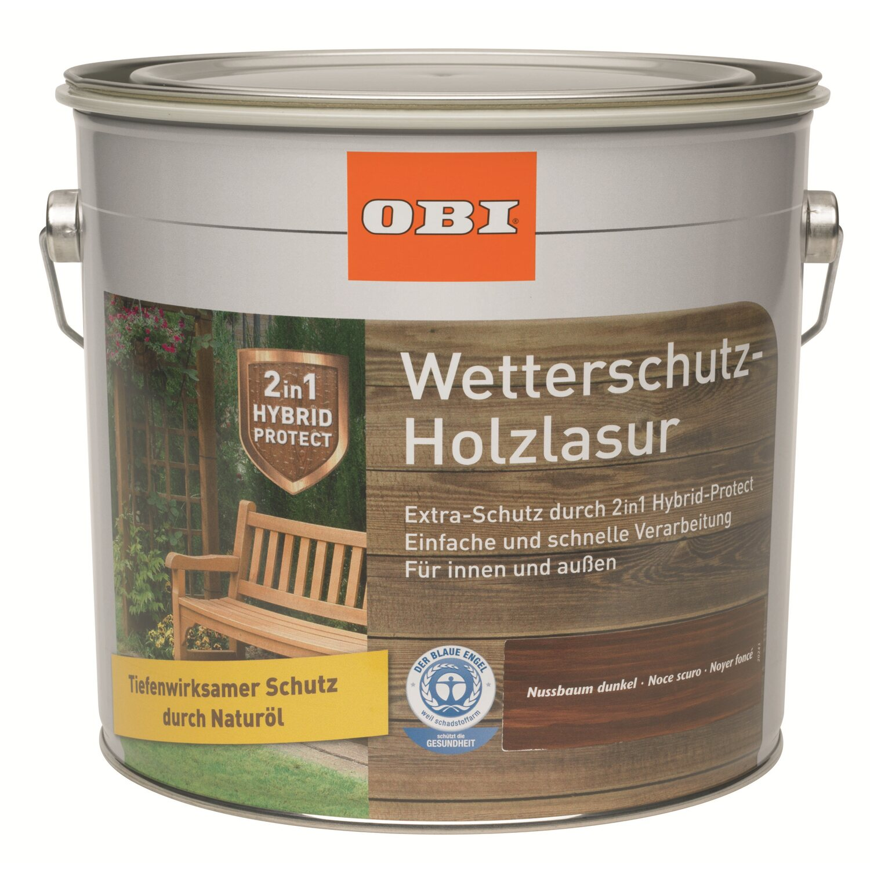 obi wetterschutz holzlasur 2in1 nussbaum dunkel 4 l kaufen bei obi. Black Bedroom Furniture Sets. Home Design Ideas