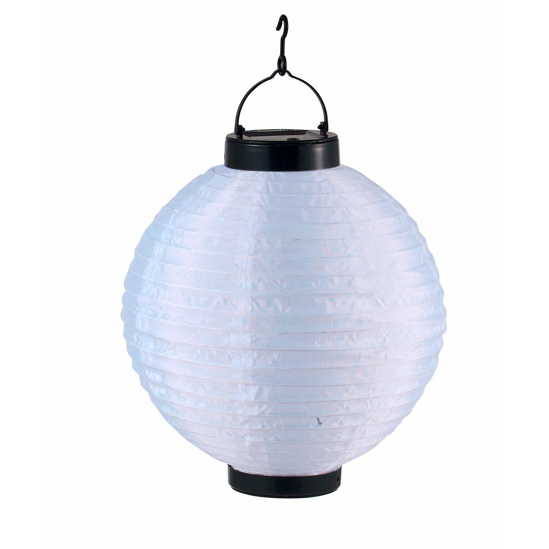 Globo Solarleuchte Lampion Weiß