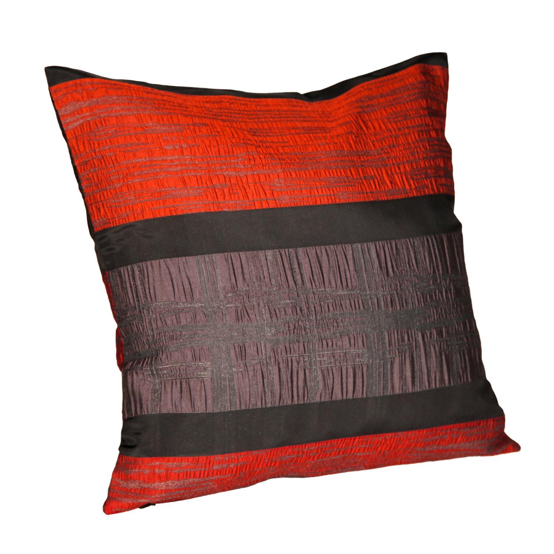 kissen mit rei verschluss san marino rot schwarz 50 cm x 50 cm kaufen bei obi. Black Bedroom Furniture Sets. Home Design Ideas
