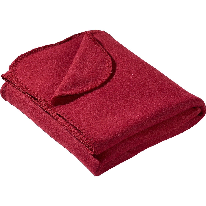 Sonstige Fleecedecke Rot 130 cm x 160 cm