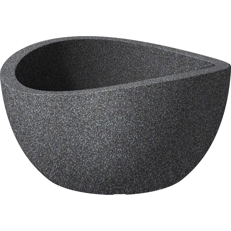 scheurich pflanzschale wave globe bowl 40 cm schwarz granit kaufen bei obi. Black Bedroom Furniture Sets. Home Design Ideas
