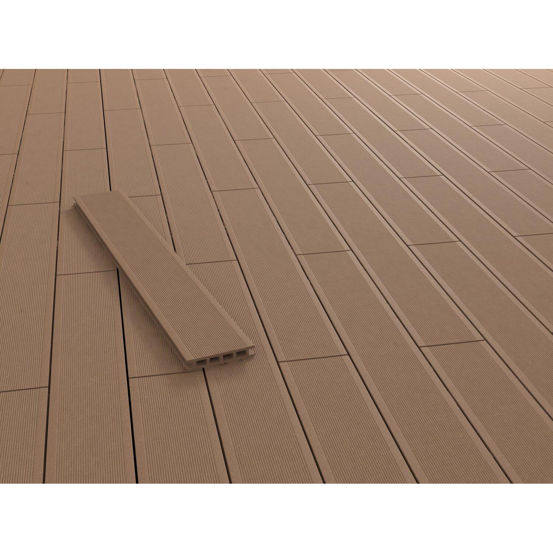 kovalex wpc terrassendiele geb rstet braun 2 6 cm x 14 5 cm meterware kaufen bei obi. Black Bedroom Furniture Sets. Home Design Ideas