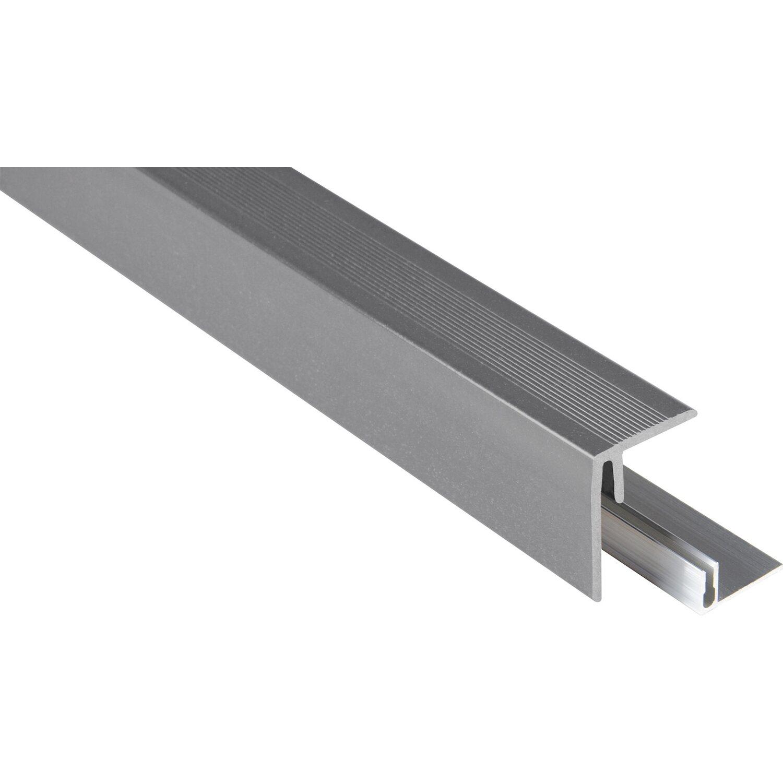 Kovalex Seitenabschluss inkl. Alu-Befestigung Grau 48 x 64 x 2500 mm