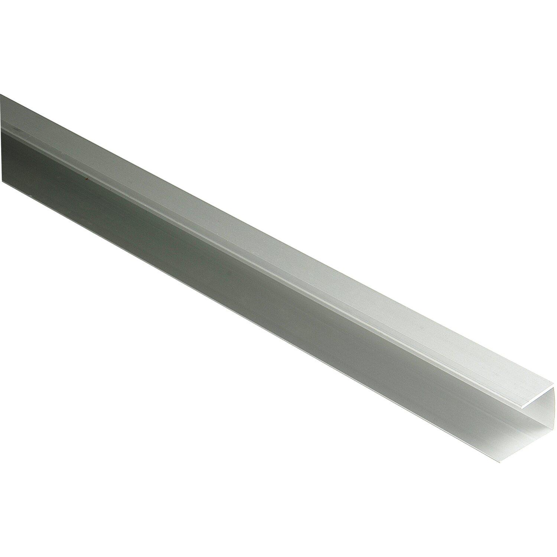 Kovalex Alu-Seitenabschluss (Einfassprofil / U-Profil) 28 x 27 x 2500 mm