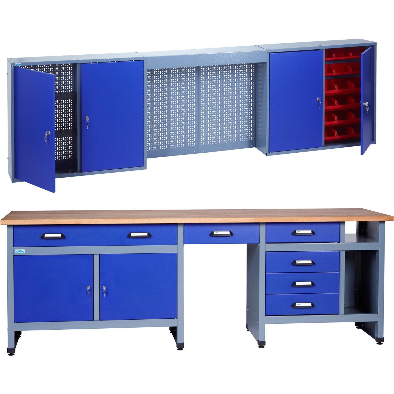 Kupper Werkstatt Set Modell 70425 7 Werkbank Und Hangeschrank 240 Cm Kaufen Bei Obi