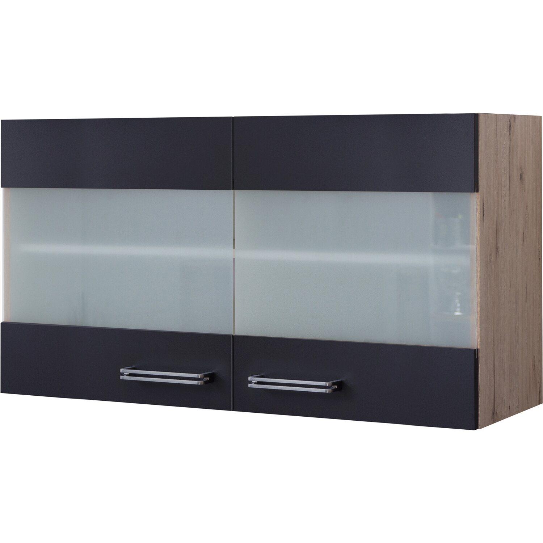 flex well exclusiv glas h ngeschrank lara 100 cm anthrazit. Black Bedroom Furniture Sets. Home Design Ideas