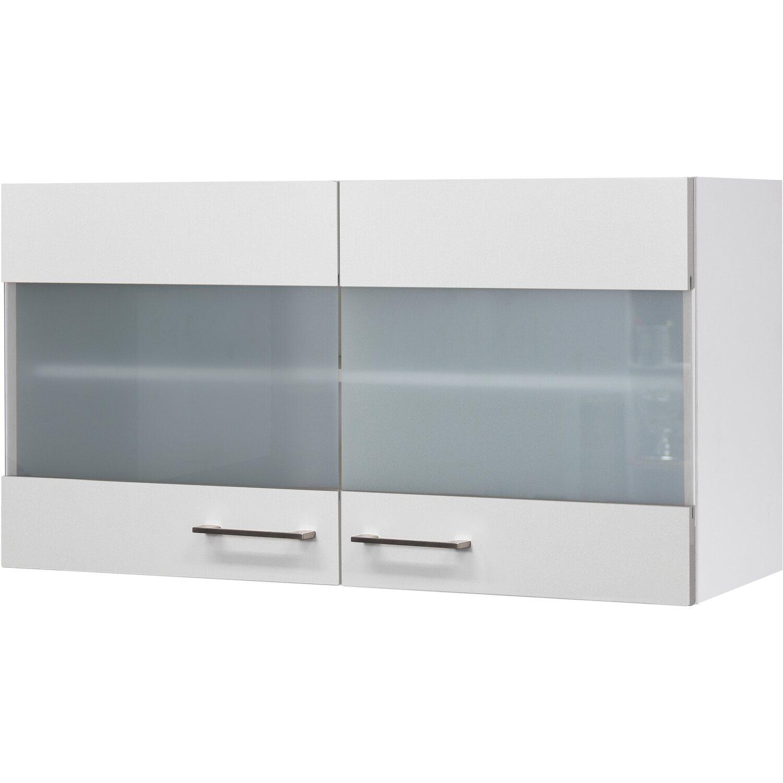 flex well exclusiv glas h ngeschrank joelina 100 cm wei. Black Bedroom Furniture Sets. Home Design Ideas