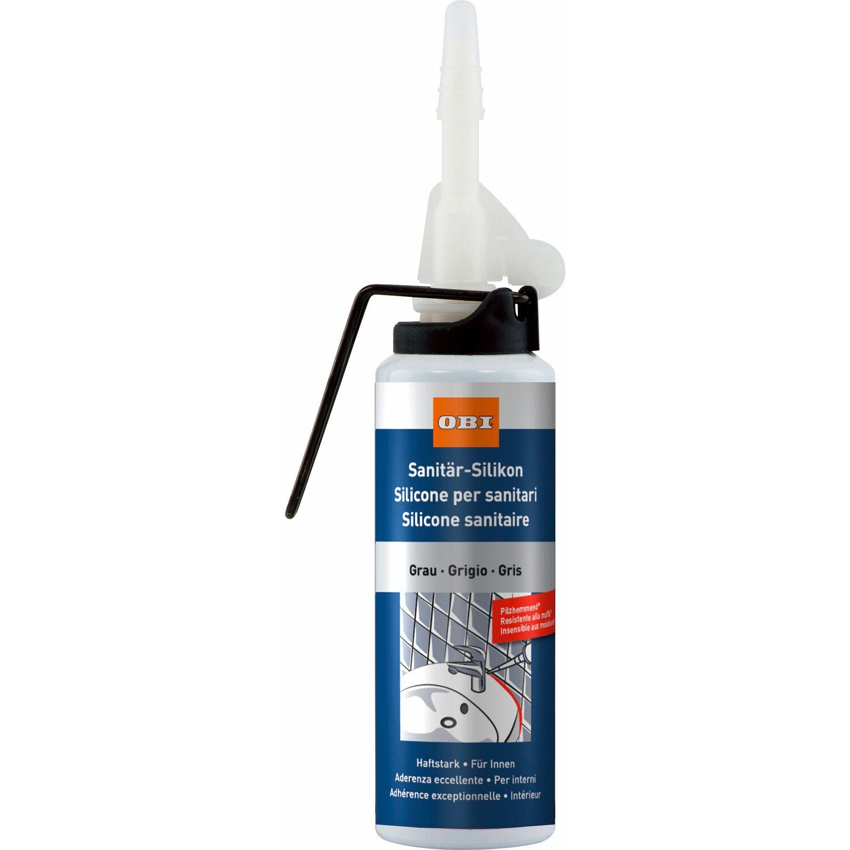 OBI  Sanitär-Silikon Grau 100 ml