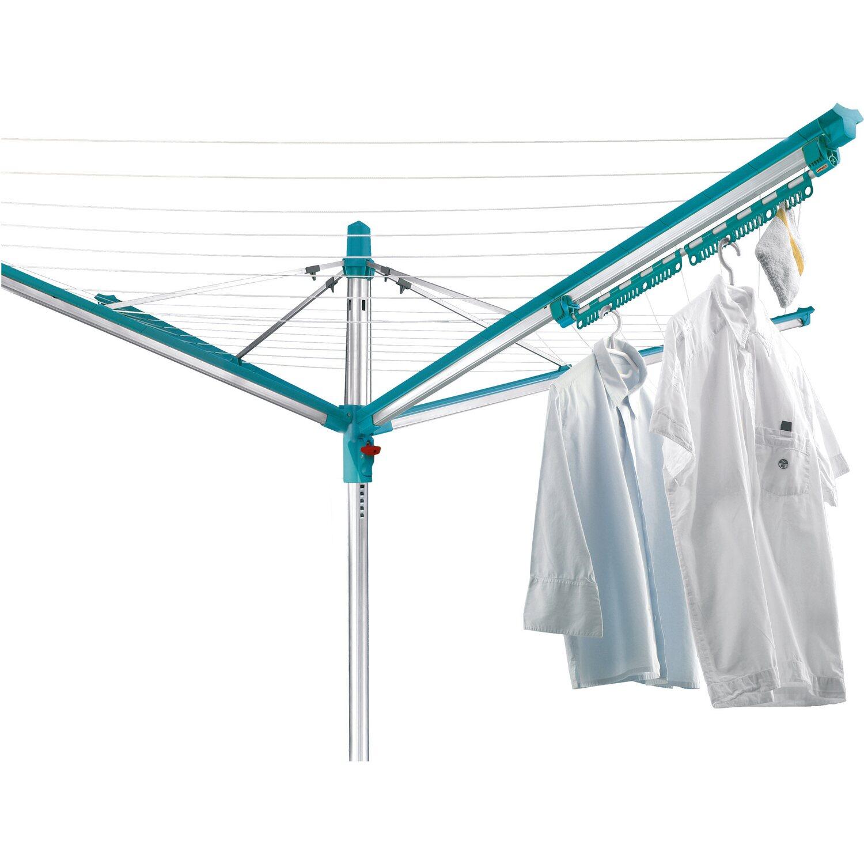 Leifheit Zubehör Set Pegasus 2 Kleinteilehalter und 5 windfeste Kleiderbügel