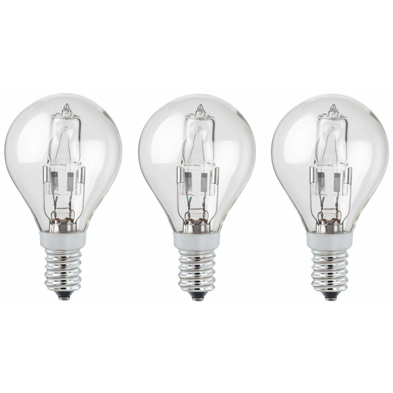 CMI  Halogenlampe EEK: D Glühlampenform E14 / 28 W (370 lm) Warmweiß 3er-Pack