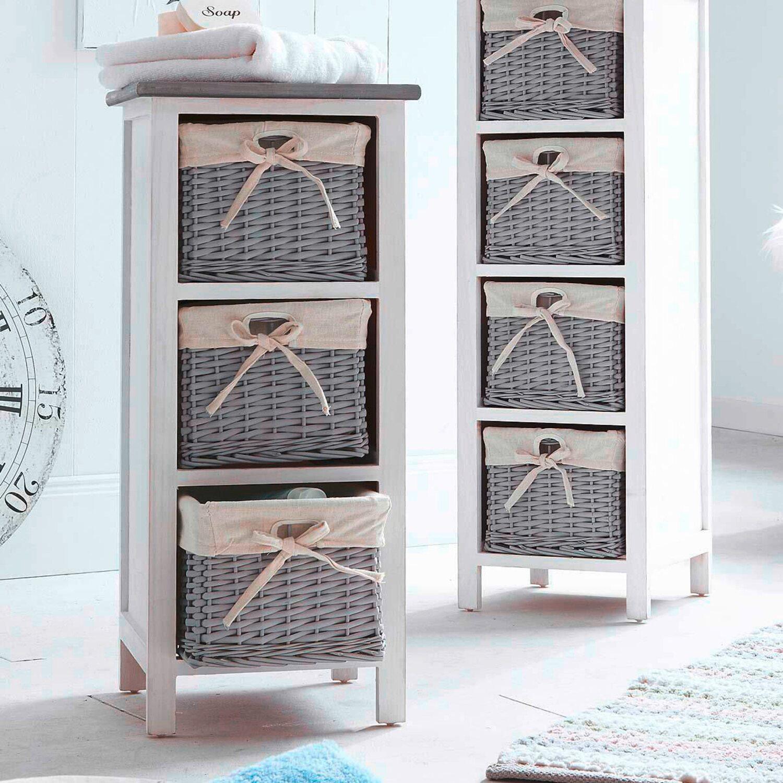 Best of home Regal mit 4 Körben Weiß Grau kaufen bei OBI