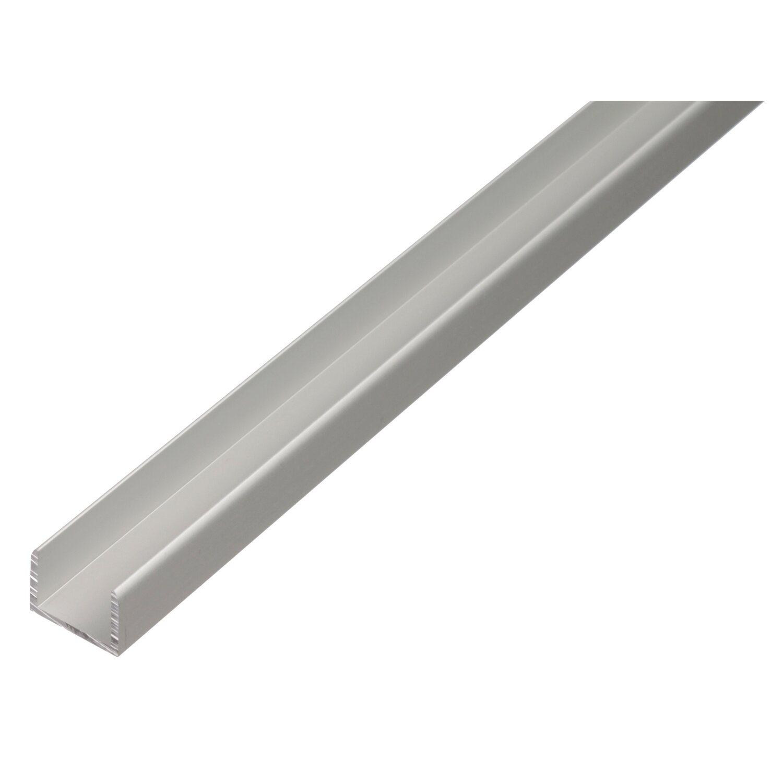 U-Profil selbstklemmend Silber eloxiert 10 mm x...