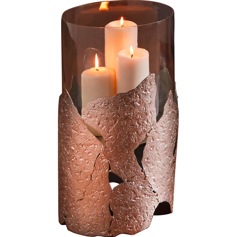 best of home boden windlicht mit glaszylinder 46 cm x 28 cm x 28 cm silberfarben kaufen bei obi. Black Bedroom Furniture Sets. Home Design Ideas