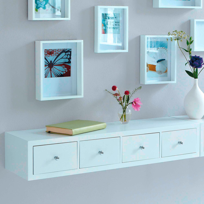 best of home wandregal mit 4 schubladen 15 cm x 80 cm x 25 cm weiß