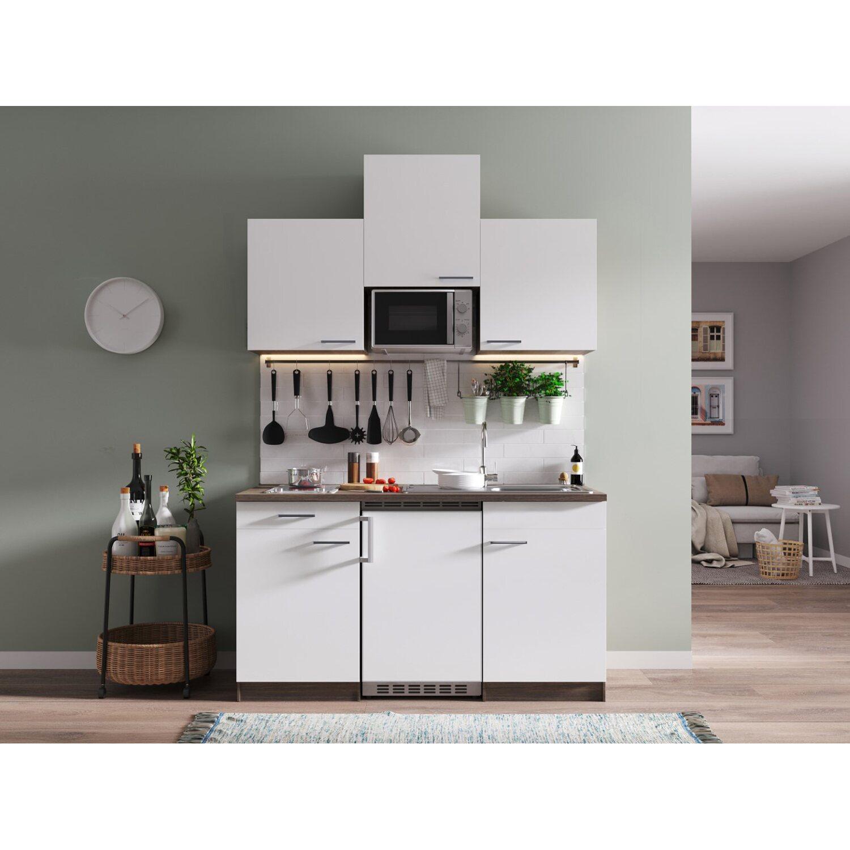 respekta k chenzeile kb150eywmic 150 cm wei eiche york nachbildung kaufen bei obi. Black Bedroom Furniture Sets. Home Design Ideas