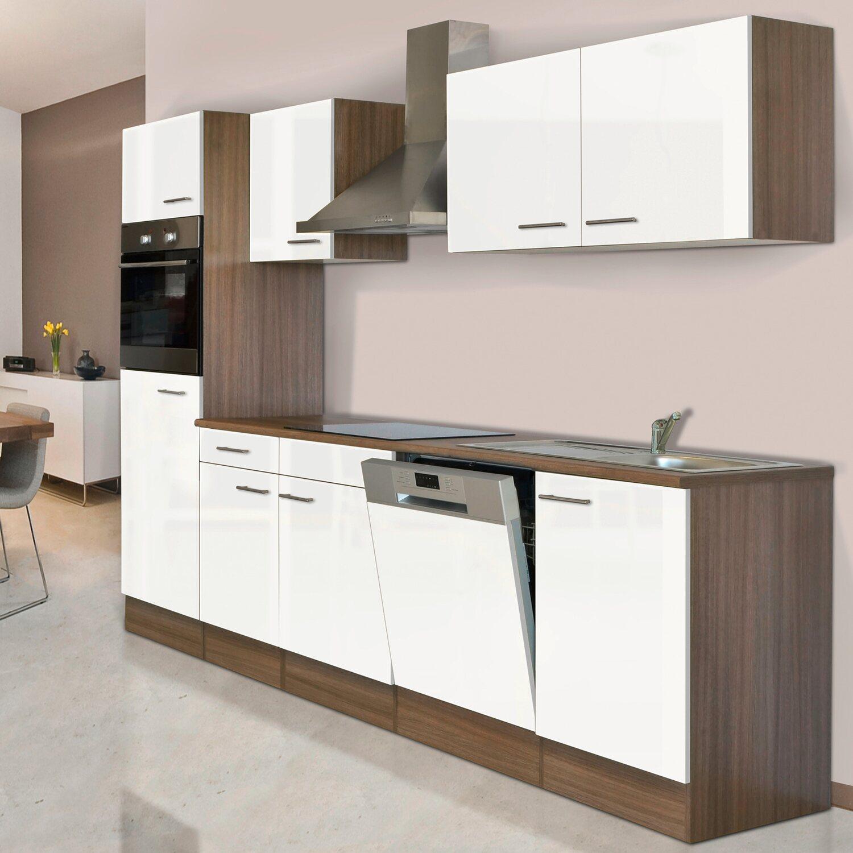 respekta k chenzeile kb280eyw 280 cm wei seidenglanz eiche york nachbildung kaufen bei obi. Black Bedroom Furniture Sets. Home Design Ideas