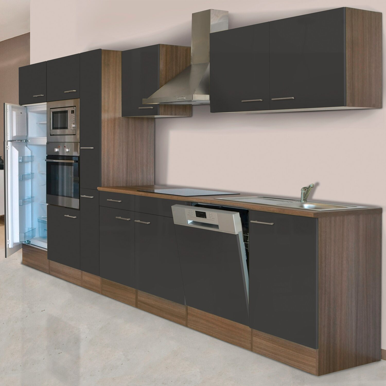 Respekta Küchenzeile KB370EYWMIGKE (Breite: 370 cm, Mit