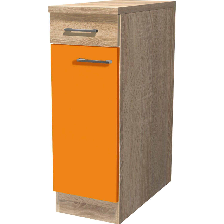 Flex Well Classic Flex-Well Classic Unterschrank Flexia 30 cm Orange/Weiß-Sonoma Eiche