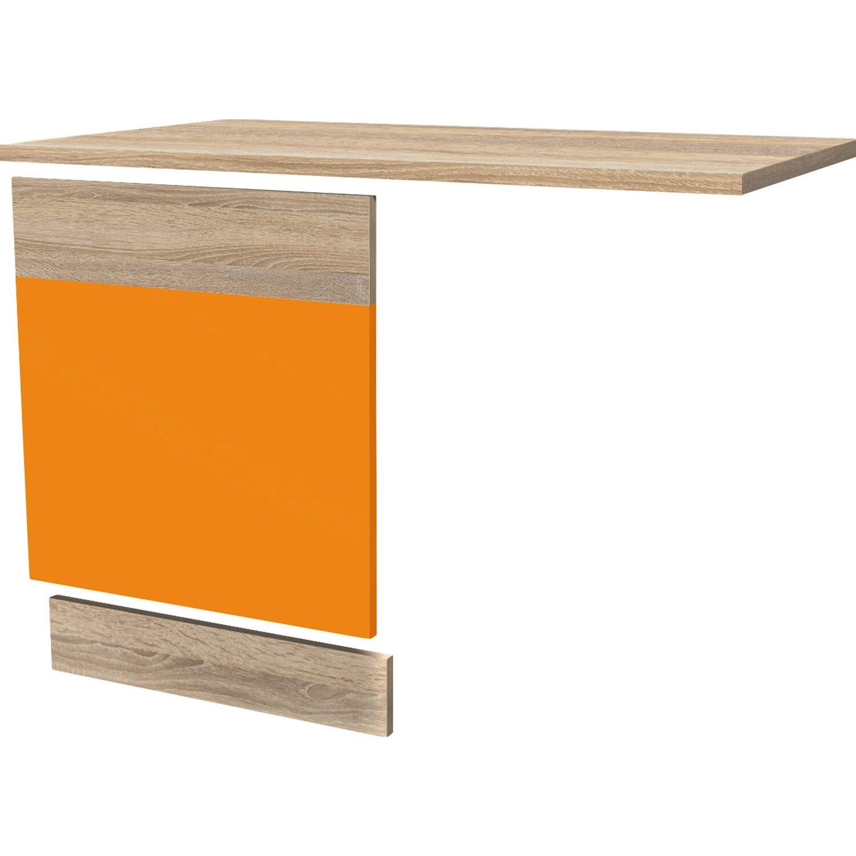 Flex Well Classic Flex-Well Classic Geschirrspüler-Paket vollintegriert Flexia Orange-Sonoma Eiche