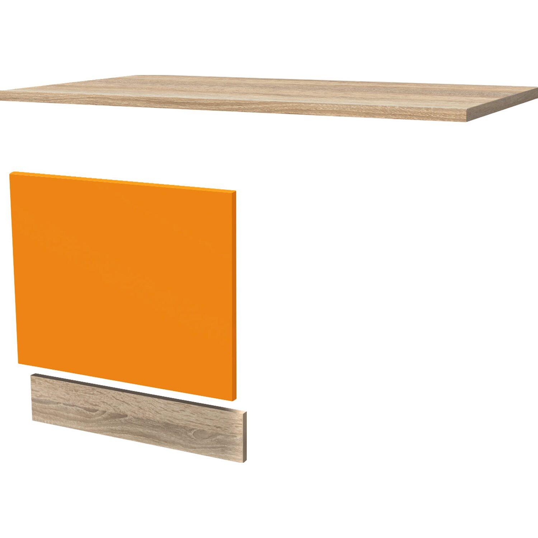 Flex Well Classic Flex-Well Classic Geschirrspüler-Paket teilintegriert Flexia Orange-Sonoma Eiche