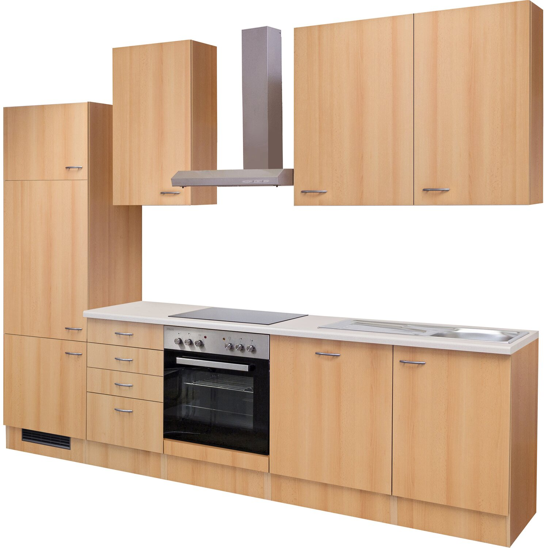 flex well classic k chenzeile nano 280 cm buche. Black Bedroom Furniture Sets. Home Design Ideas