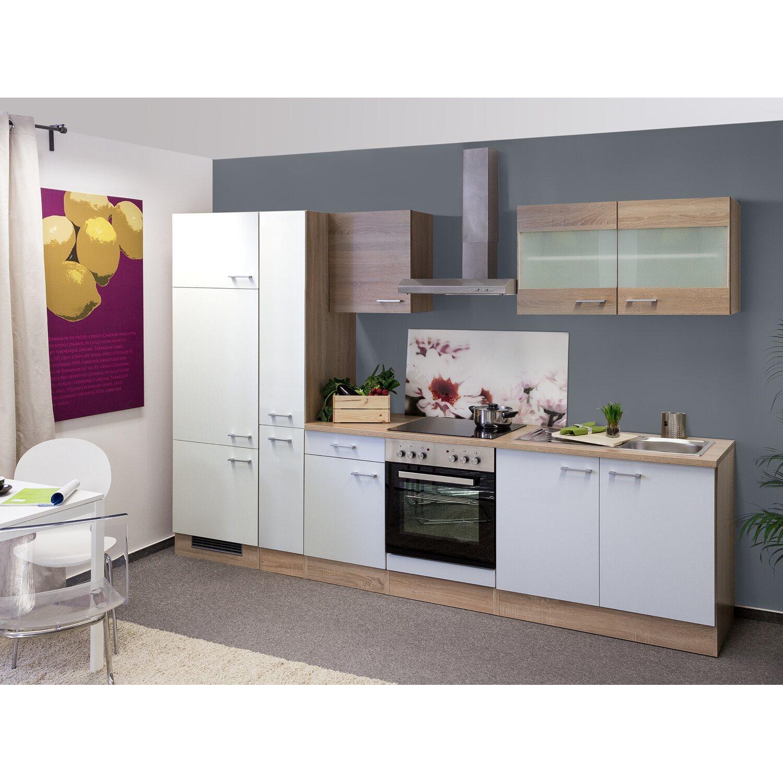 flex well classic k chenzeile florida 300 cm sonoma eiche wei sonoma eiche kaufen bei obi. Black Bedroom Furniture Sets. Home Design Ideas
