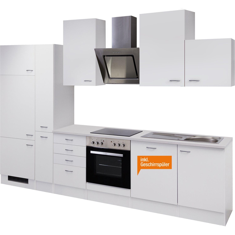 Küchenzeile Weiß flex well küchenzeile wito 310 cm weiß kaufen bei obi
