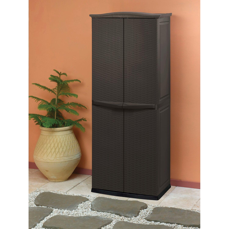 keter aufbewahrungsschrank 179 cm x 70 cm x 50 cm rattan style kaufen bei obi. Black Bedroom Furniture Sets. Home Design Ideas