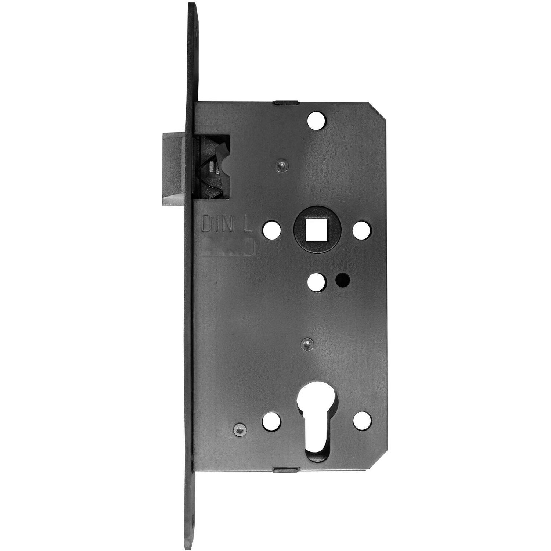 Bever Korridorschloss für Profilzylinder gefälzt DIN rechts Edelstahl