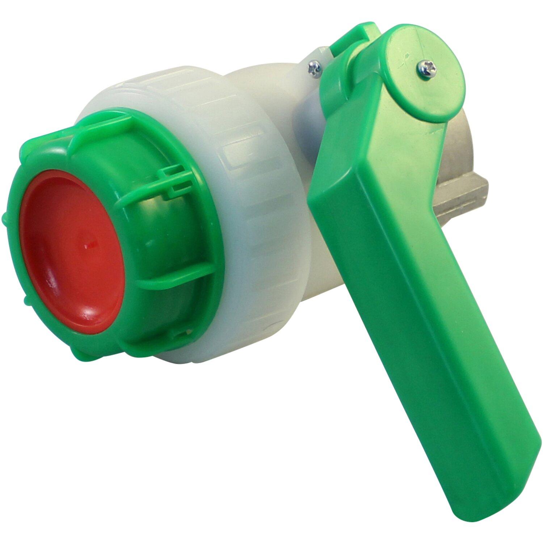 "Kugelhahn 1/"" Hahn Kugelventil Kunststoff Wasserhahn Fass IBC Regentonne Auslass"