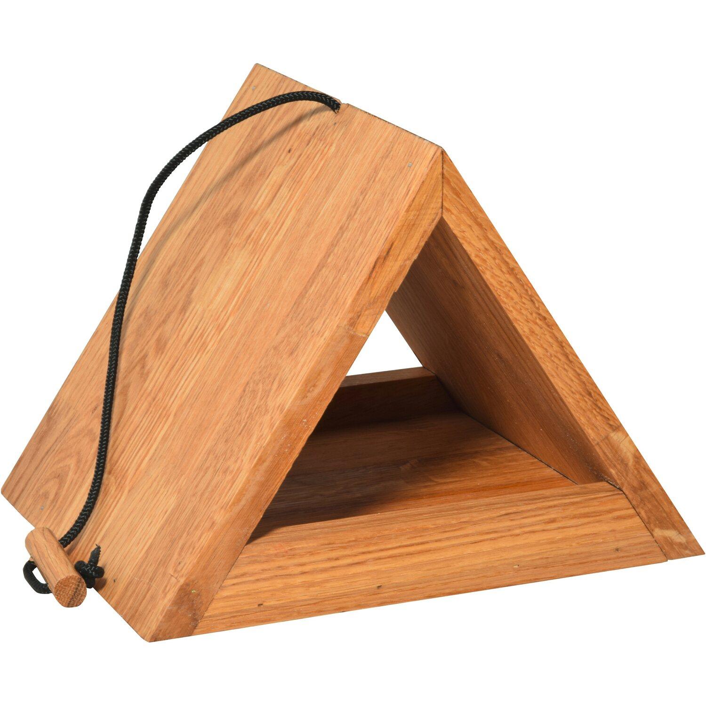 dobar dreieckiges futterhaus eichenholz kaufen bei obi. Black Bedroom Furniture Sets. Home Design Ideas