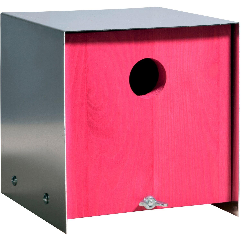 Dobar -Nistkasten mit Aluminium-Dach Pink
