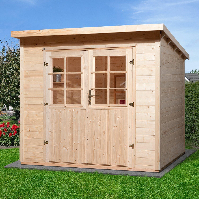 weka holz gartenhaus taro a 235 cm x 240 cm kaufen bei obi. Black Bedroom Furniture Sets. Home Design Ideas